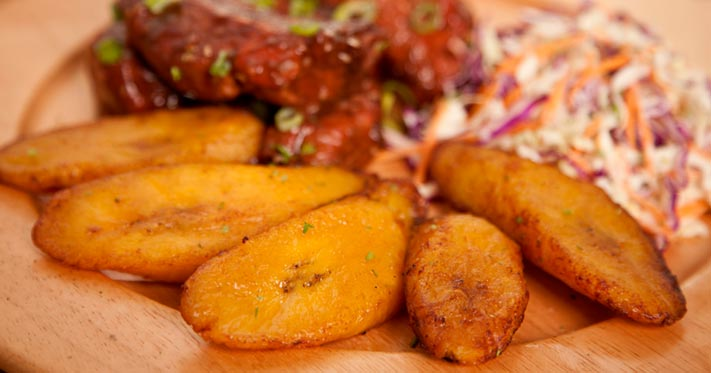 Fried Ripe Plantain Slices (Bias-cut)