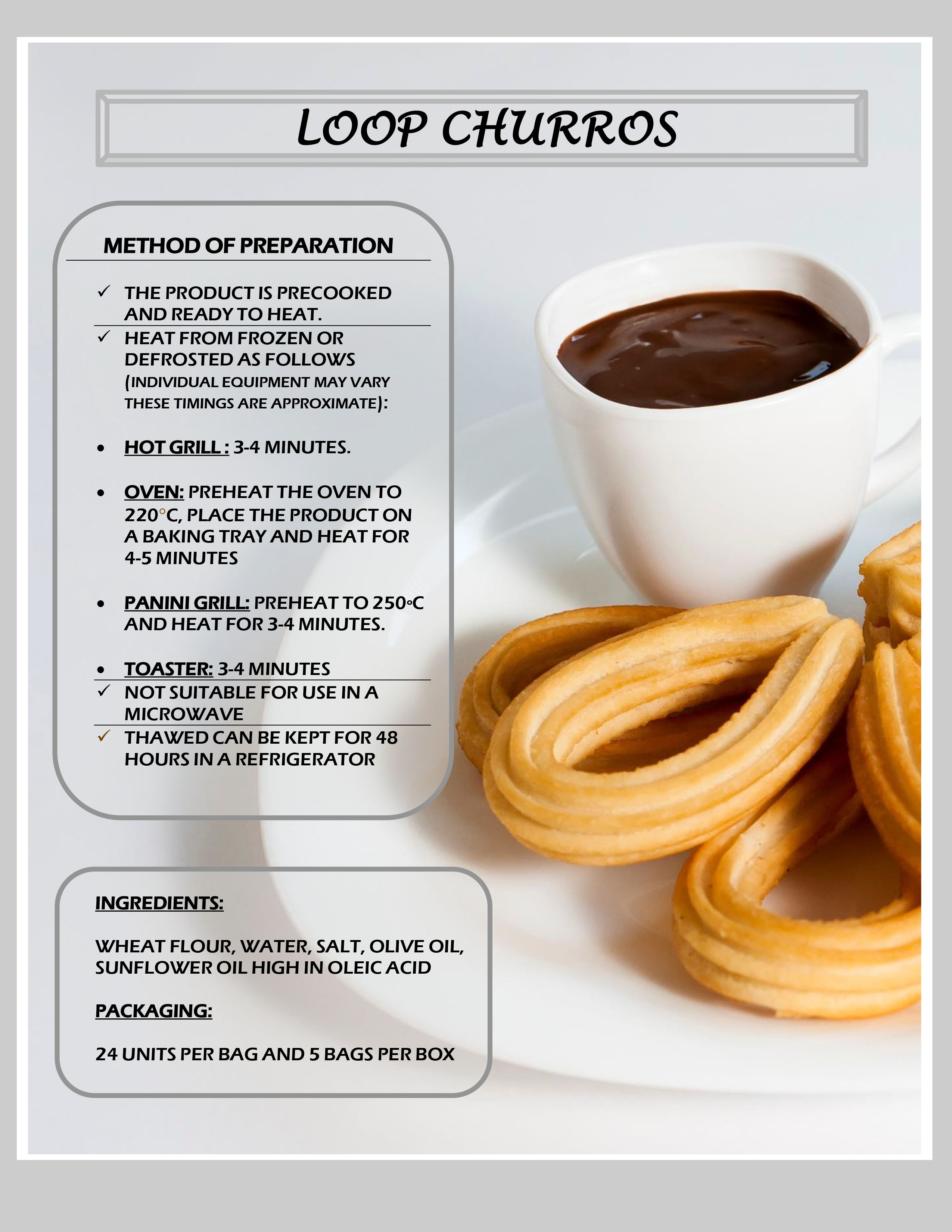 Churros Lopps - Cooked
